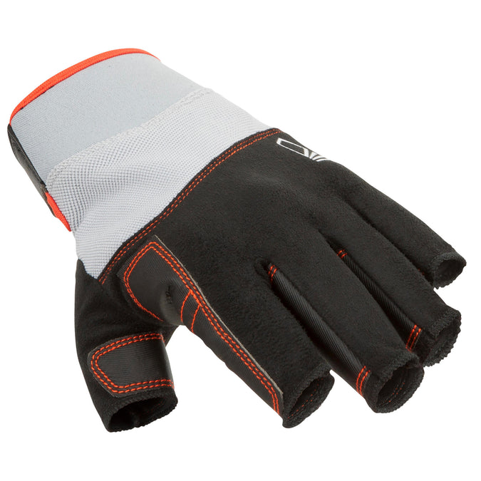 Men's Women's Sailing Fingerless Gloves 500,black, photo 1 of 5