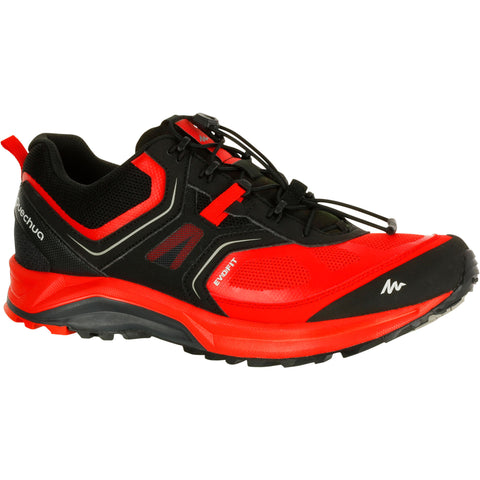 Men's quick hiking shoes Forclaz 500,blood red