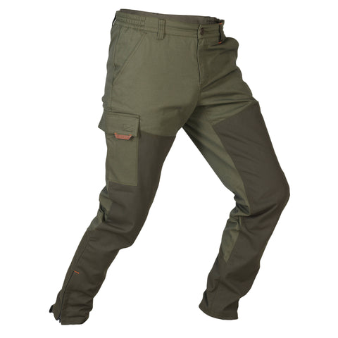 Men's Hunting Reinforced Tapered Pants 100,dark ivy green