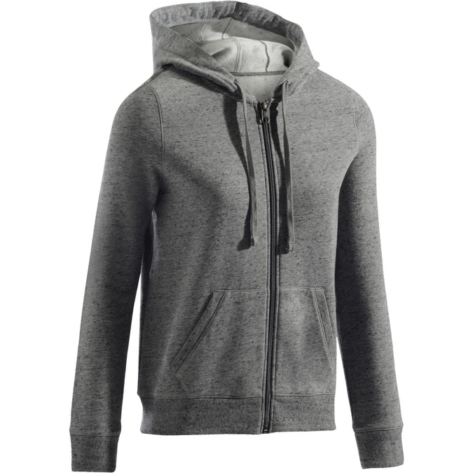 Women's Pilates Gentle Gym Hooded Jacket 520,gray, photo 1 of 11