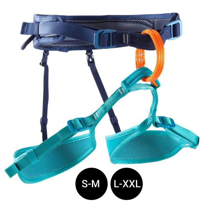 Climbing and Mountaineering Adjustable Harness Rock,galaxy blue, photo 1 of 10