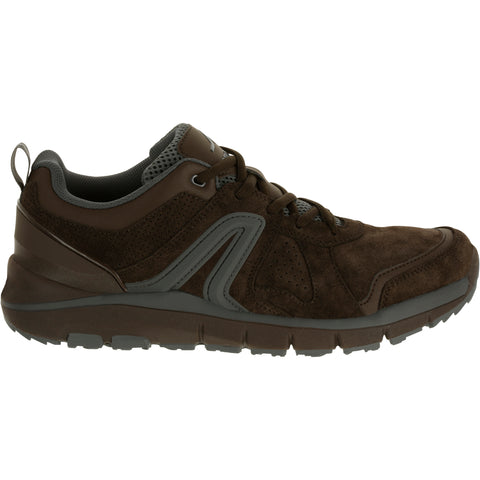 Men's Power Walking Leather Shoes HW 540,brown