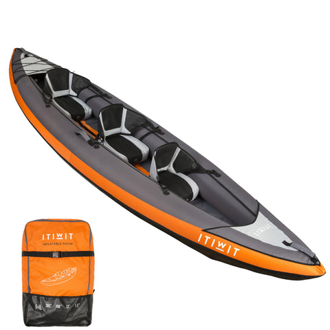 Itiwit, Inflatable Recreational Sit-in Kayak, 2-3 Person,