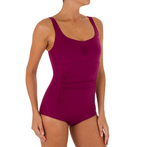Women's Aquafitness Shortcut One-Piece Swimsuit Mary,dark mulberry