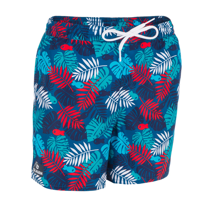 Kids' Surfing Short Boardshorts 100,red, photo 1 of 4