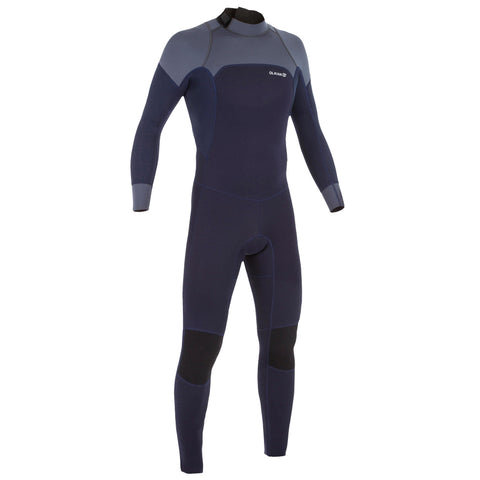 Men's Surfing Wetsuit 3/2 mm Neoprene Surf 500,navy blue