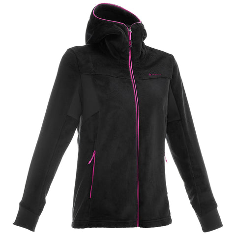 MH520 Women's Hiking Fleece Jacket - Black,