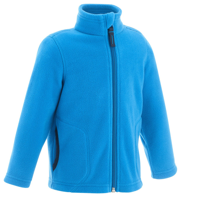 Kids' MH150 Hiking Fleece,pacific blue, photo 1 of 5