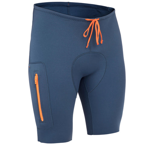 Men's Canoe Kayak and Stand-Up Paddle Shorts 2 mm Neoprene,