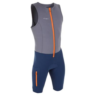 Men's Paddle & Rowing Neoprene Shorty Suit 500 - 2 mm,dark gray, photo 1 of 9