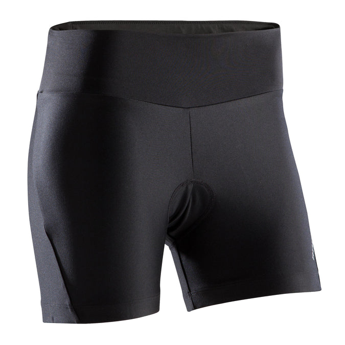 Women's Mountain Bike Shorts ST100,black, photo 1 of 2