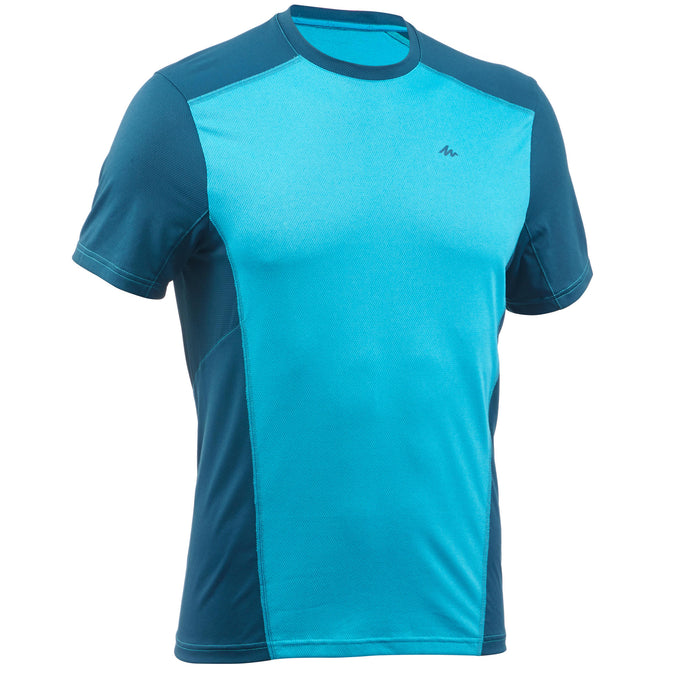 Men's Mountain Hiking Short-Sleeved T-Shirt MH500,teal green, photo 1 of 4