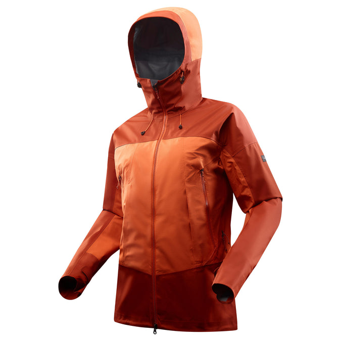 Quechua Trek 500, Waterproof Hiking Jacket, Men's,burnt orange, photo 1 of 11