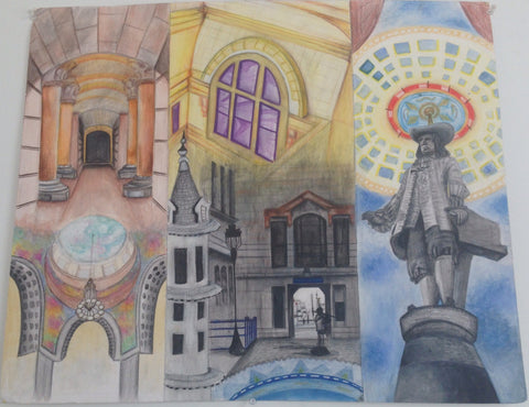 A compilation of imagery from Philadelphia's City Hall painted by KIND Institute arist Dynisha Murray.