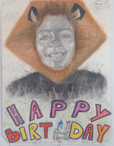 Dynisha Murray, KIND Institute arist, sketched her mother as Alex from 'Madagascar' as a birthday present.