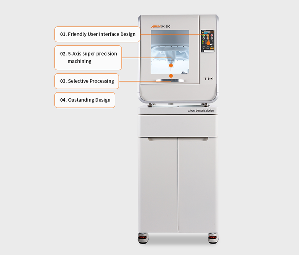 Arum, 5-Axis Dry Milling (5X-300Pro), Dental Milling Machine, Cad Cam Milling Machine, Dental Cad Cam, Dental Laboratory, Dental Lab, Wet and Dry Milling