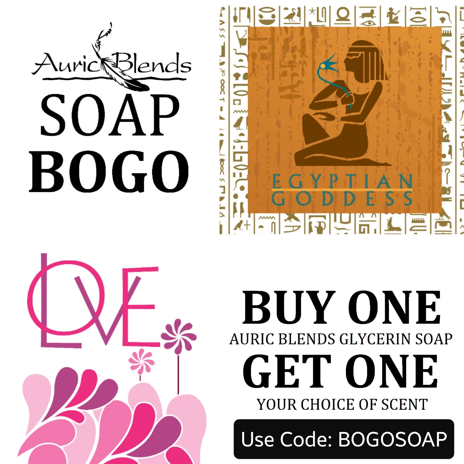 Auric Blends natural Glycerin Soap, buy one get one free