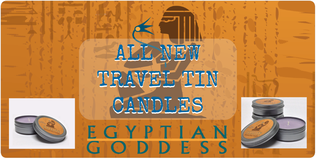 NEW EGYPTIAN GODDESS NATURAL SOY CANDLES