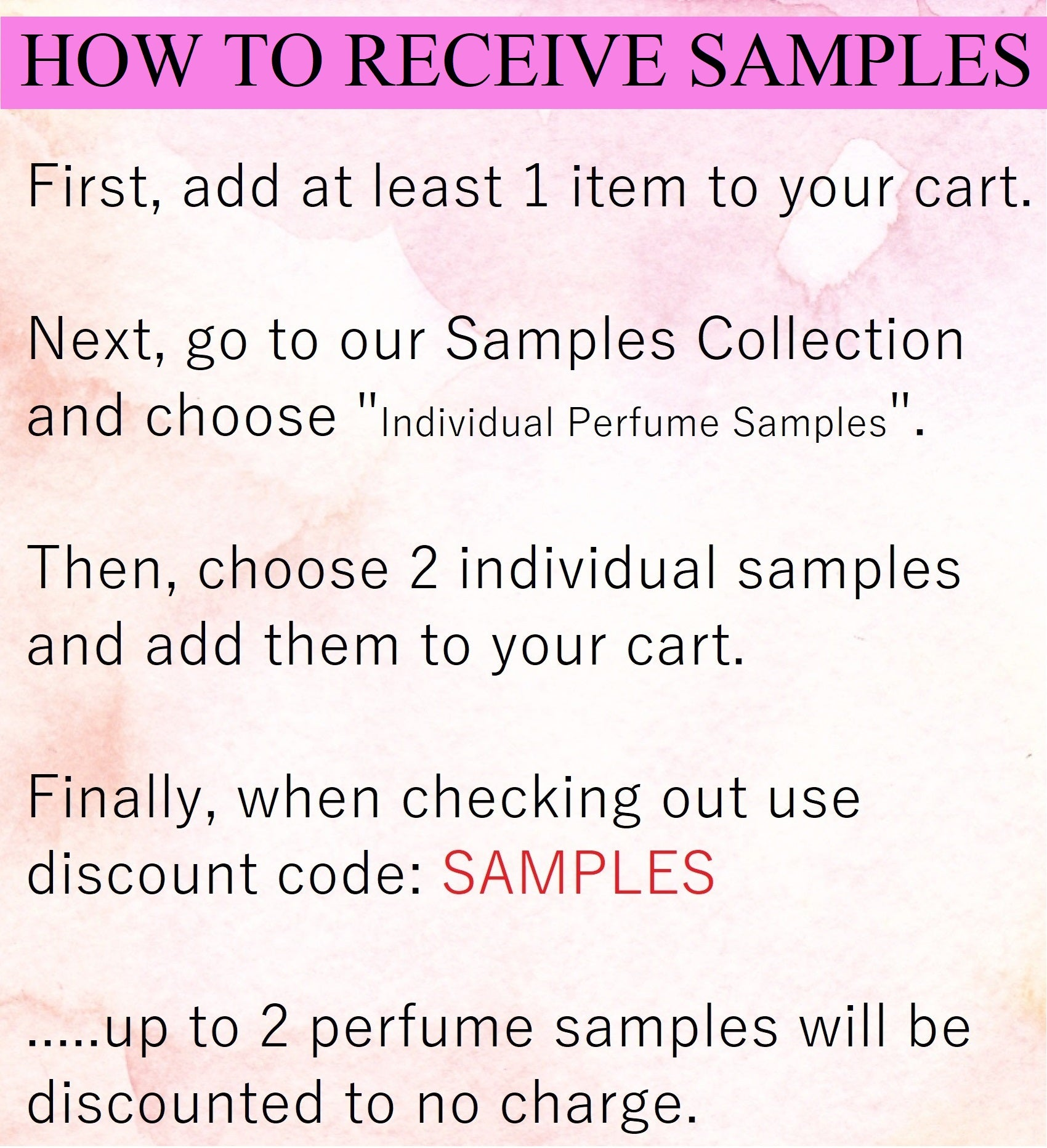 How to Receive Free Samples