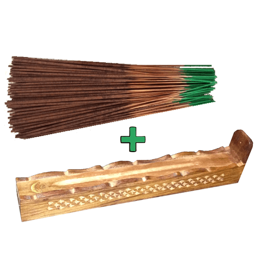 Incense Sticks (100 pc) Combo w/ Storage Box Burner