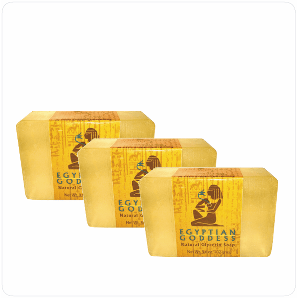 Triple Pack - Egyptian Goddess™ Clear Glycerin Soap (3pc)