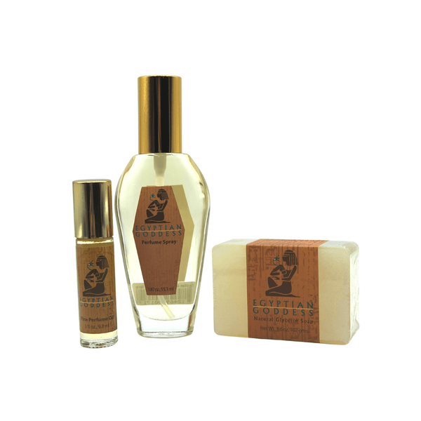 Egyptian Goddess™ Combo #3 <p>Perfume Spray + Special Roll-on + Soap</p>