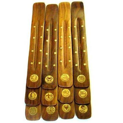 Zodiac Brass Inlay Incense Holders
