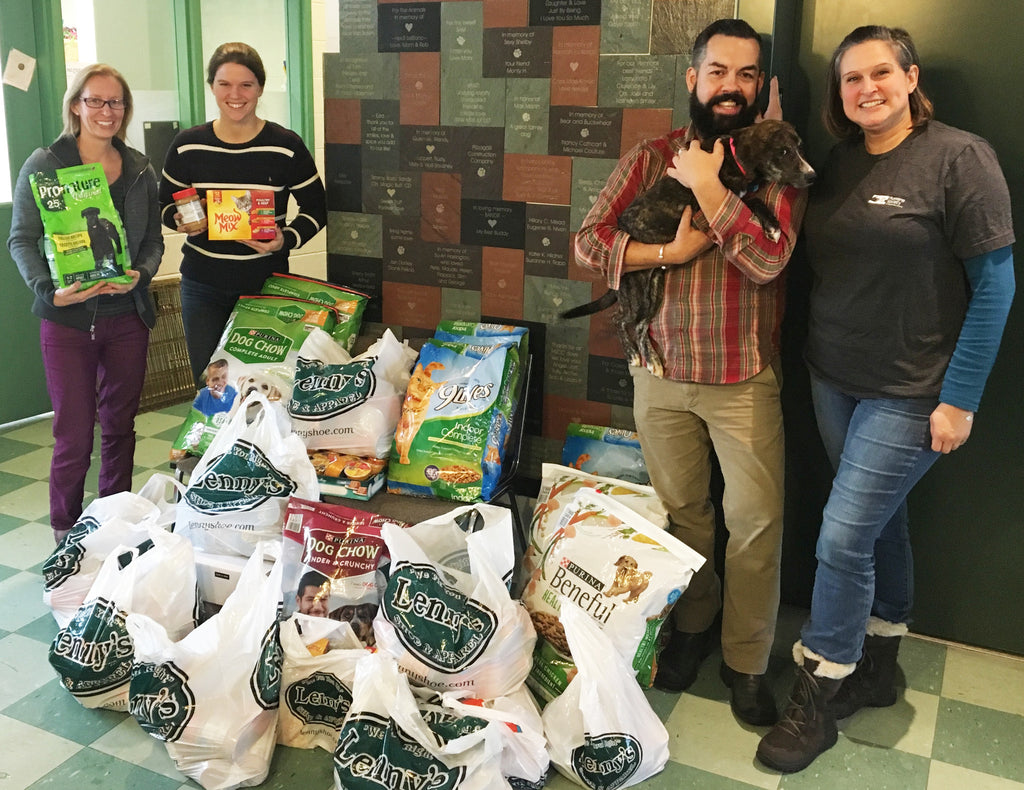 Lenny's Supports our Furry Friends by Donating over 270 Pounds of Pet Food to the Humane Society of Chittenden County