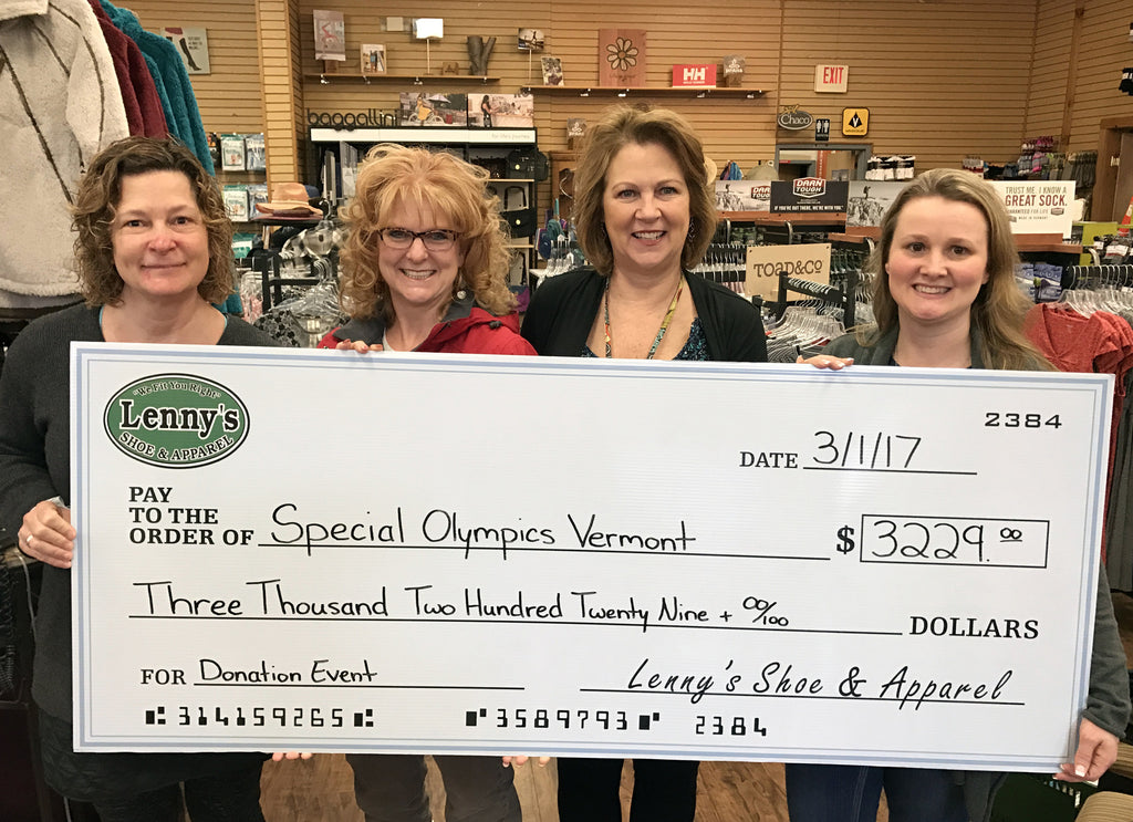 $4,029 Raised to Support Special Olympics Vermont and New York