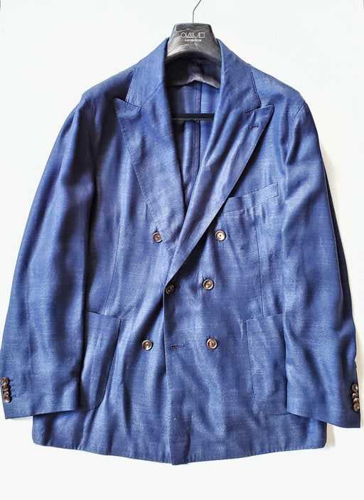 Unstructured Neapolitan Double Breasted Sport Coat/Blazer - Royal Blue 42R - X Of Pentacles