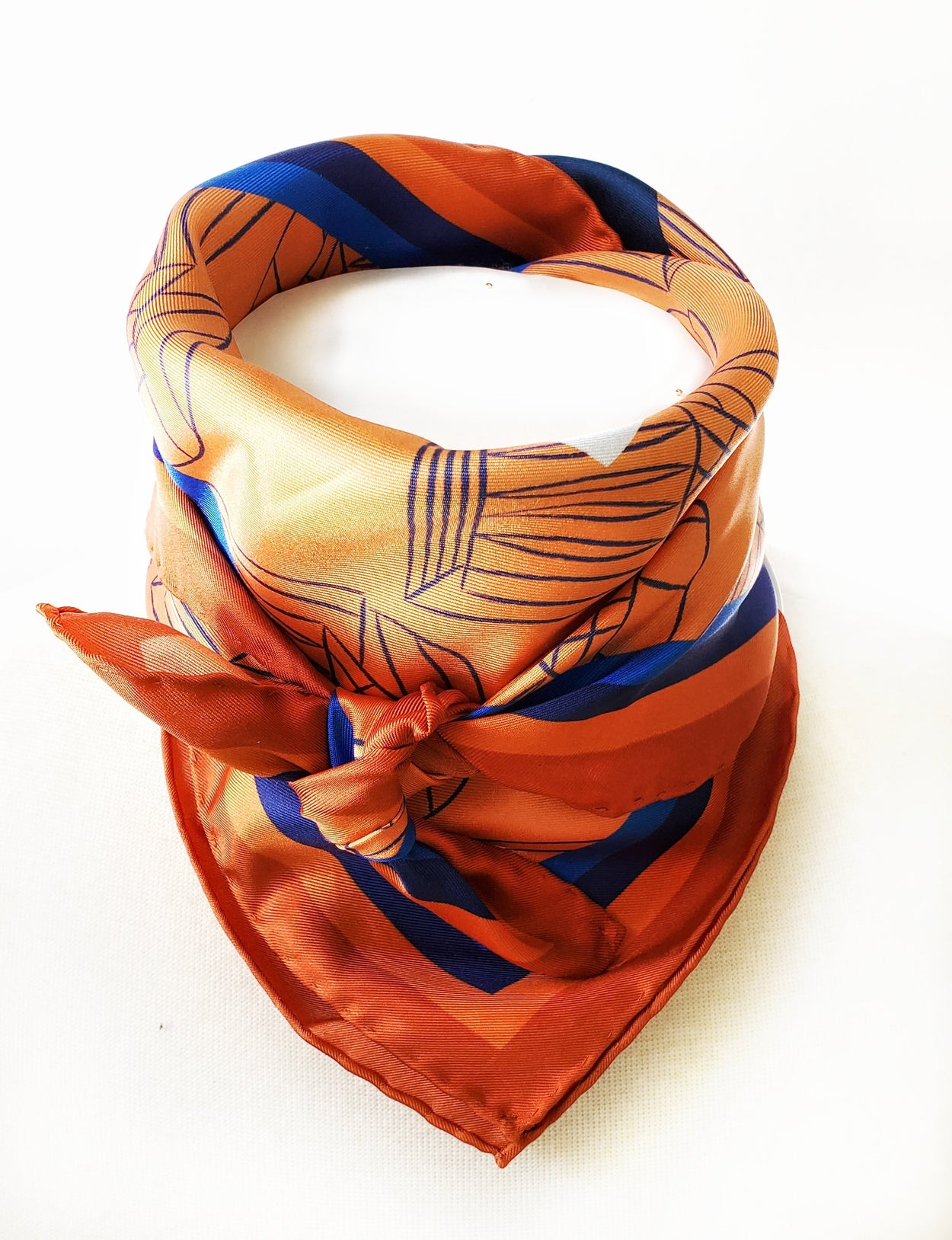 Rotunda Silk Carré Scarf - Commonwealth Copper