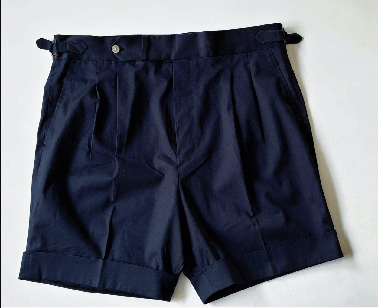 High Waisted Shorts - Cotton Twill