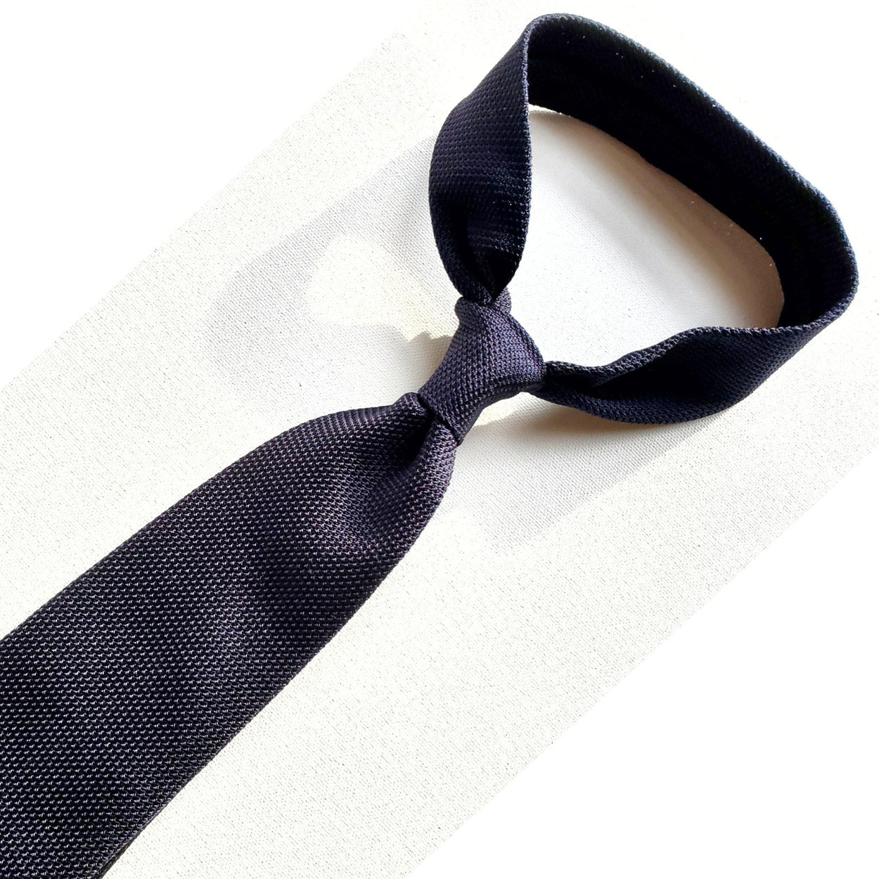 Dark Navy Blue Grenadine Tie Garza Piccola
