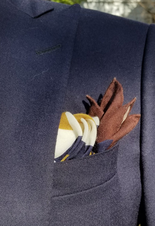 Colonial Cannon Blast Wool Silk Pocket Square
