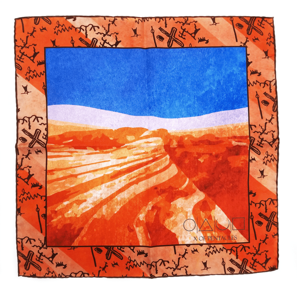 x-of-pentacles-valley-of-fire-state-park-silk-pocket-square