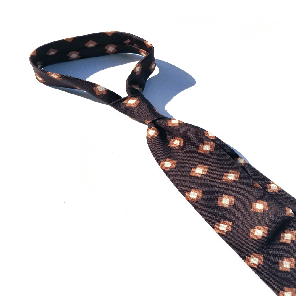 x-of-pentacles-macclesfield-silk-brown-block-print-tie
