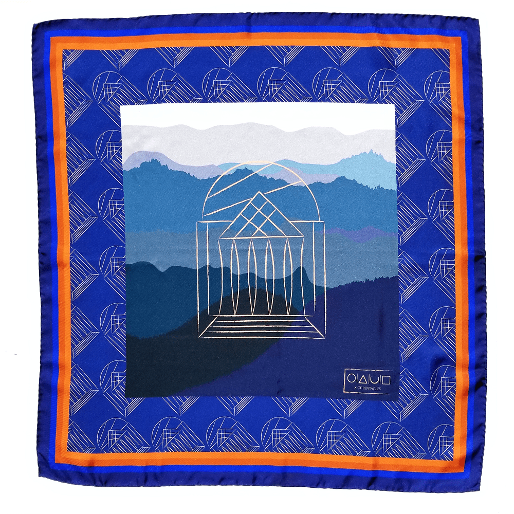 x-of-pentacles-university-of-virginia-rotunda-navy-silk-scarf