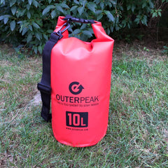 10L Waterproof Dry Bag with Shoulder Strap - OuterPeak