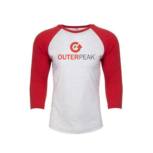 3/4 Sleeve Raglan Logo Unisex Baseball Tee - OuterPeak