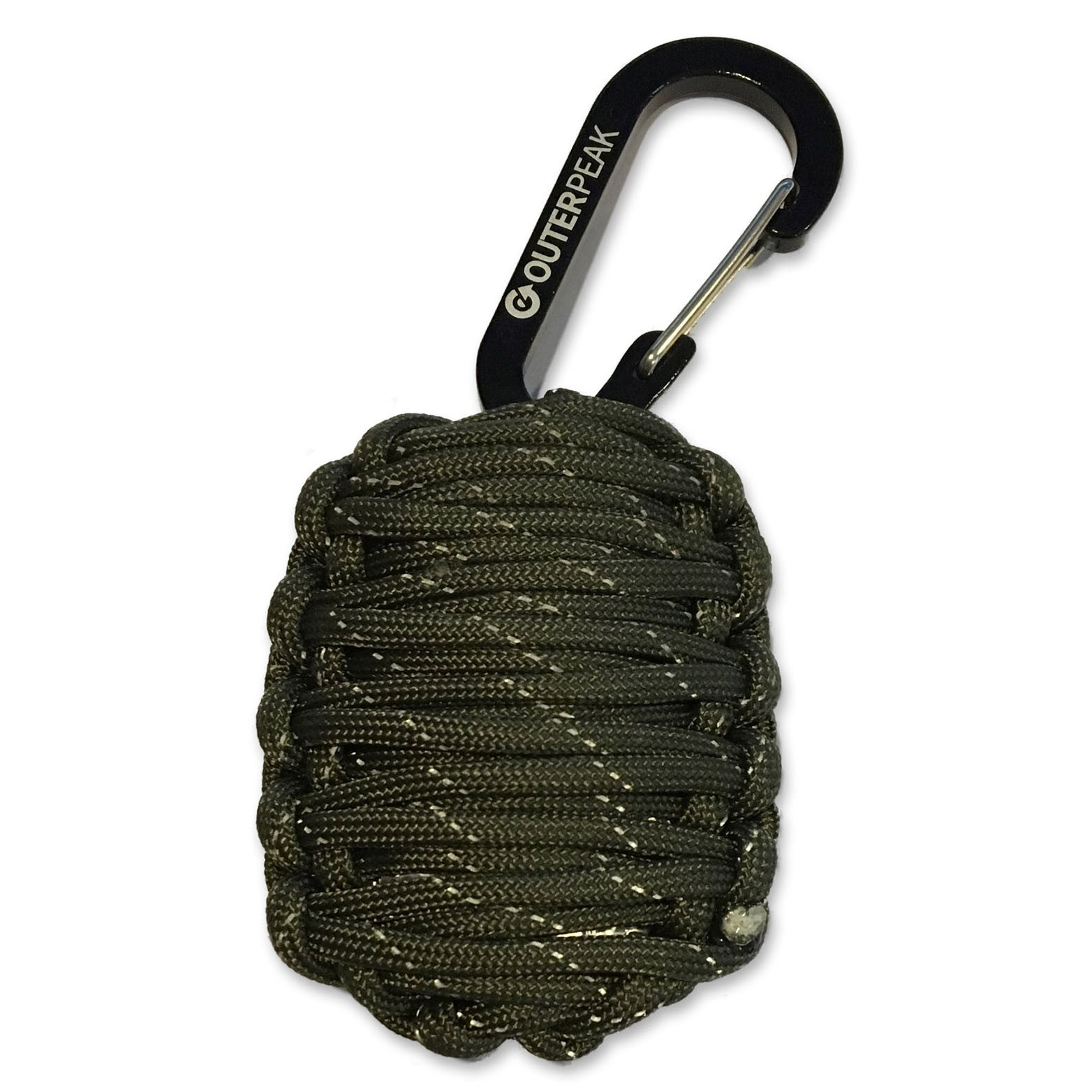 20-Piece Emergency Paracord Survival Kit (Army Green Reflective) - OuterPeak