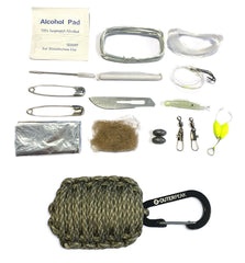 20-Piece Emergency Paracord Survival Kit (Digital Camo) - OuterPeak