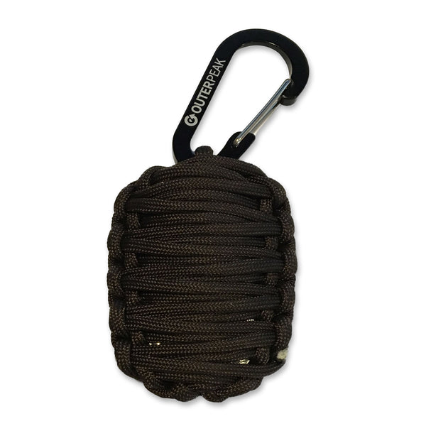20-Piece Emergency Paracord Survival Kit (Dark Coffee)