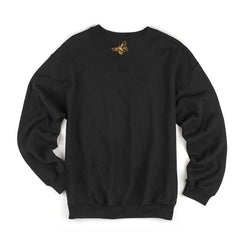 THE AVALANCHES EMBROIDERED LOGO BLACK SWEATSHIRT