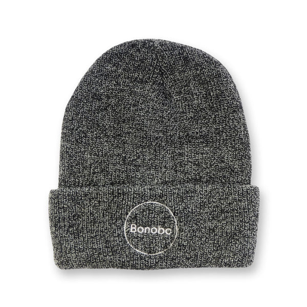 CIRCLE LOGO EMBROIDERED ANTIQUE GREY BEANIE
