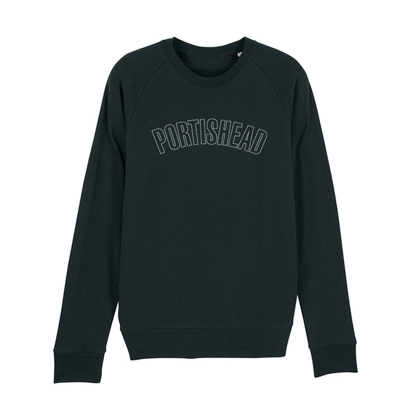 PORTISHEAD OUTLINE LOGO BLACK SWEATSHIRT POD