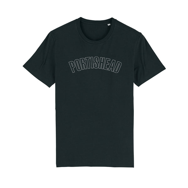 PORTISHEAD OUTLINE LOGO BLACK T-SHIRT POD