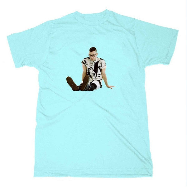 BLUE SITTING DOWN T-SHIRT