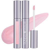 bride in show soft pink lip gloss