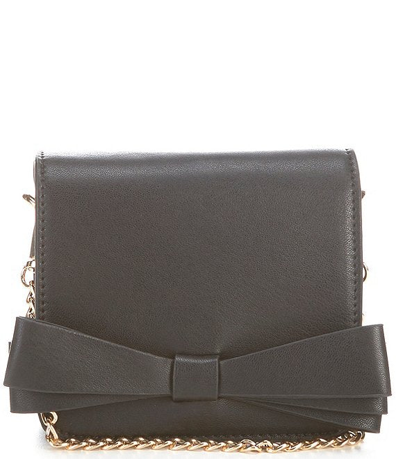 Popatu Black Bow Crossbody Handbag - Popatu pageant and easter petti dress