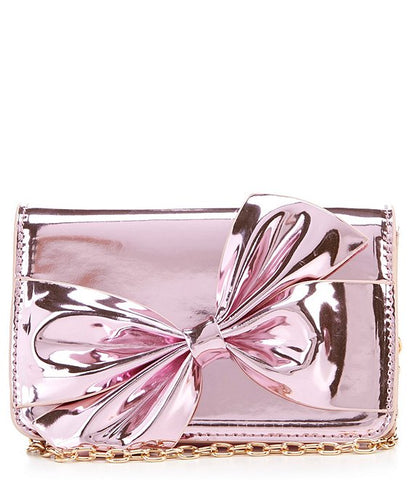 Popatu Pink Metallic Crossbody Handbag - Popatu pageant and easter petti dress